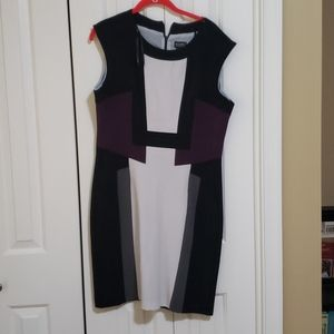 Black white and purple dress